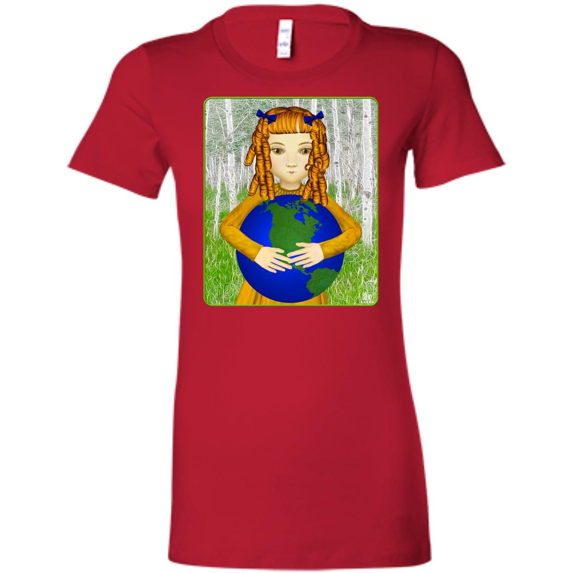 Save My World - Women's Fitted T-Shirt