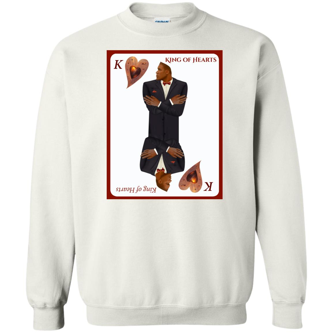 king of hearts - Men's Crew Neck Sweatshirt
