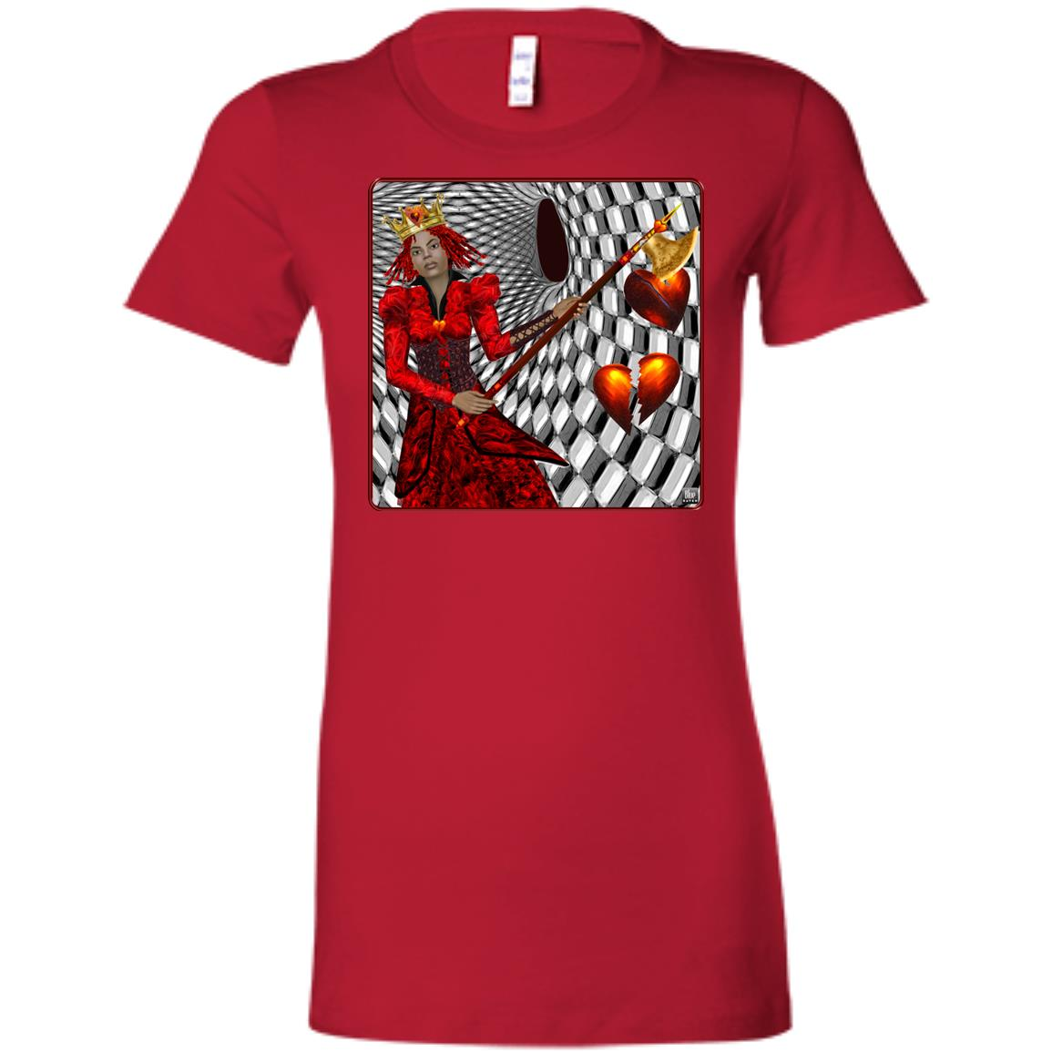 portrait of the queen of hearts - Women's Fitted T-Shirt