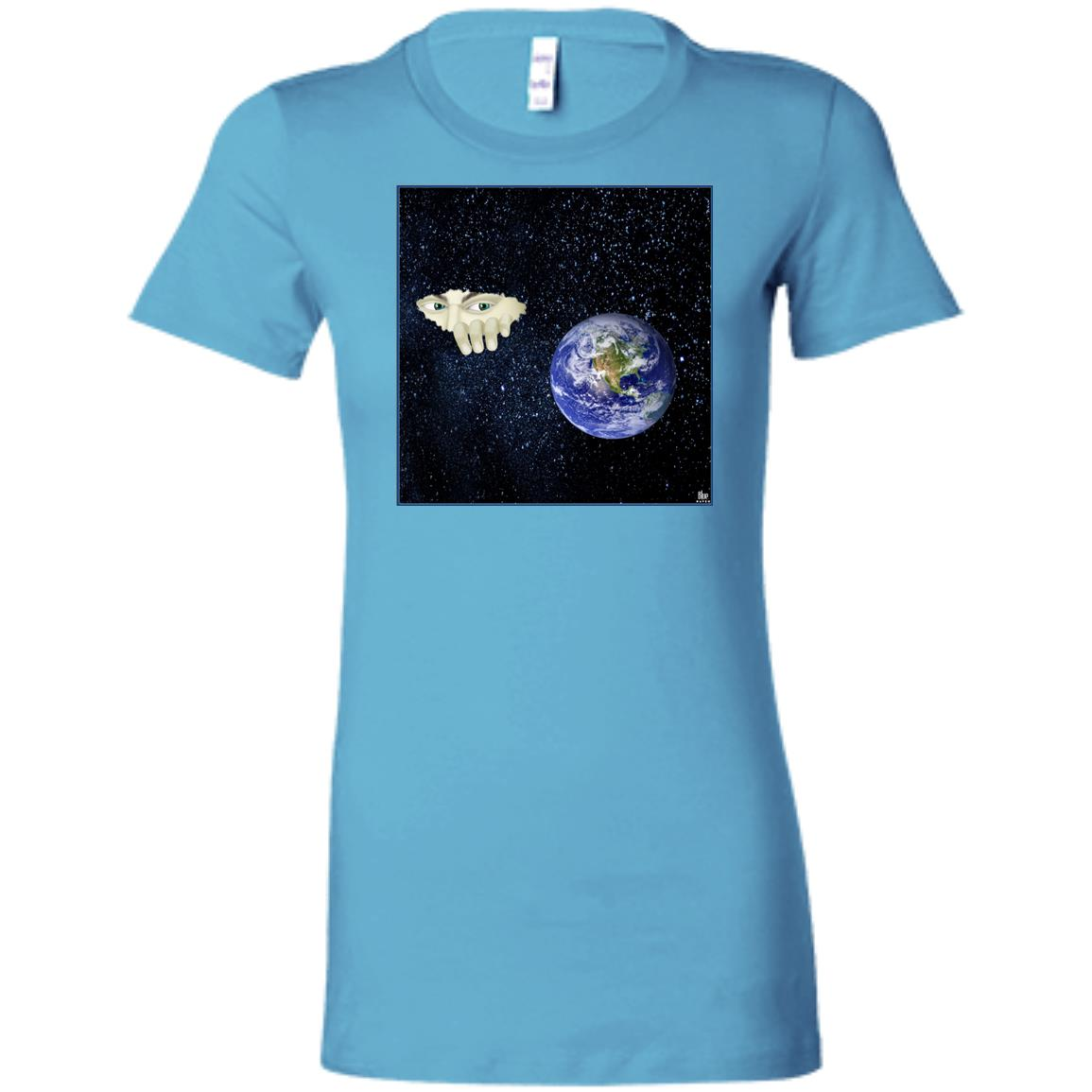 SOMEWHERE OUT THERE - Women's Fitted T-Shirt