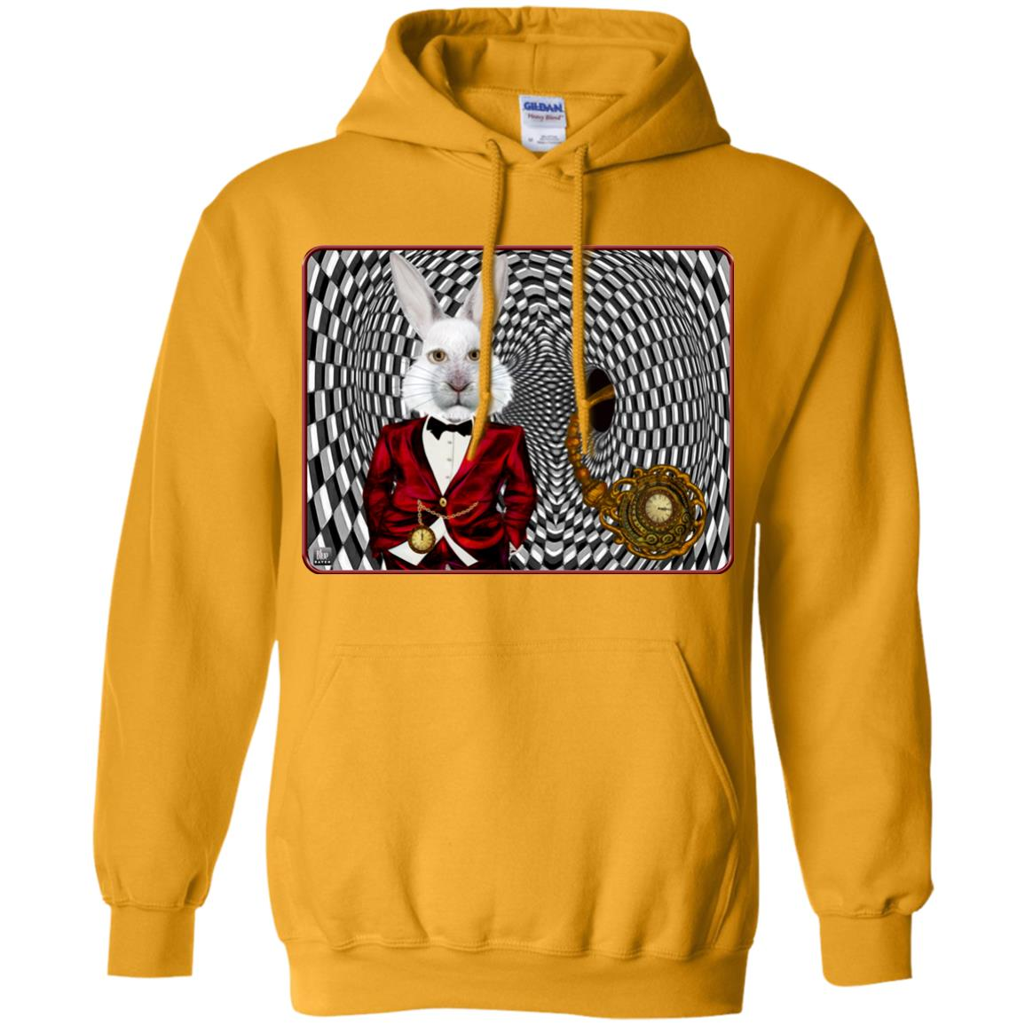 portrait of the white rabbit - Adult Hoodie