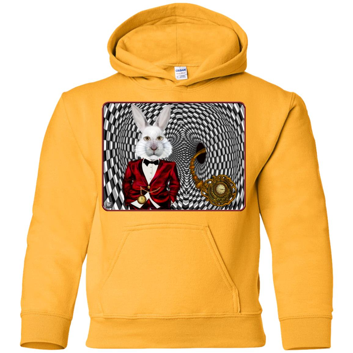 portrait of the white rabbit - Youth Hoodie
