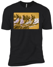 Time Marching On - Gold - Men's Premium Fitted T-Shirt