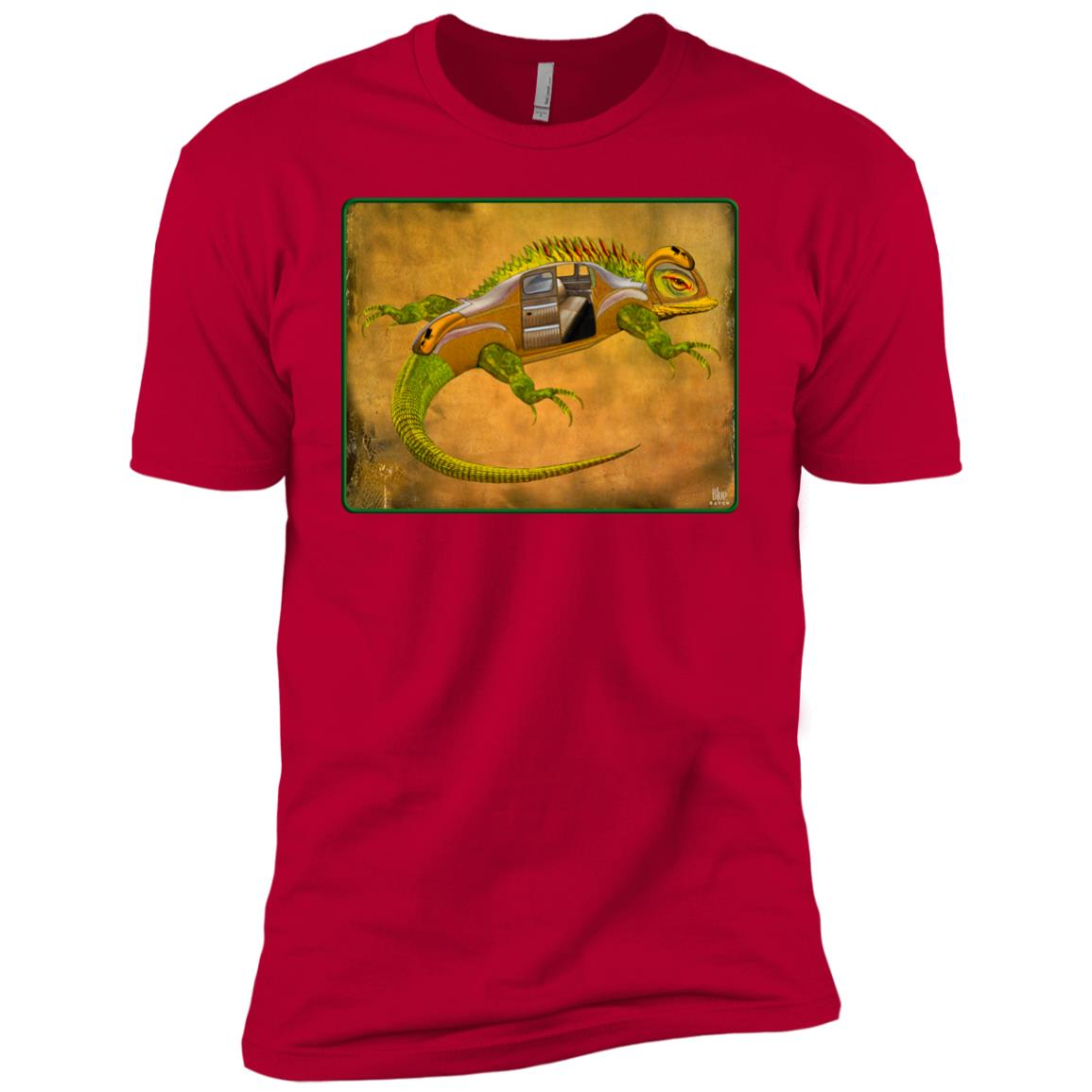 Uber Lizard - green - Men's Premium Fitted T-Shirt