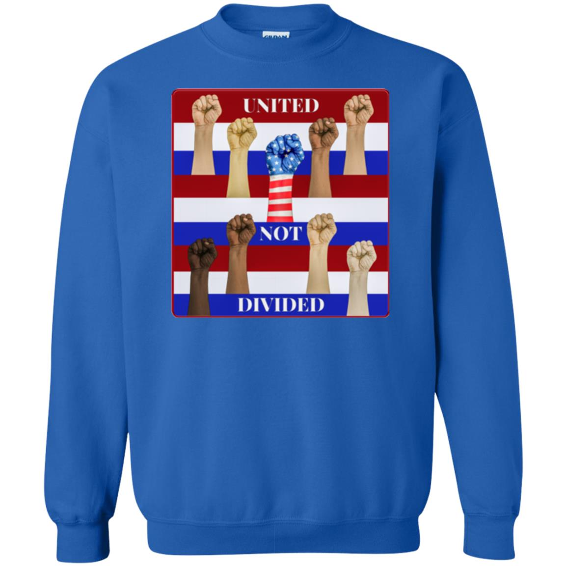 united not divided - Men's Crew Neck Sweatshirt