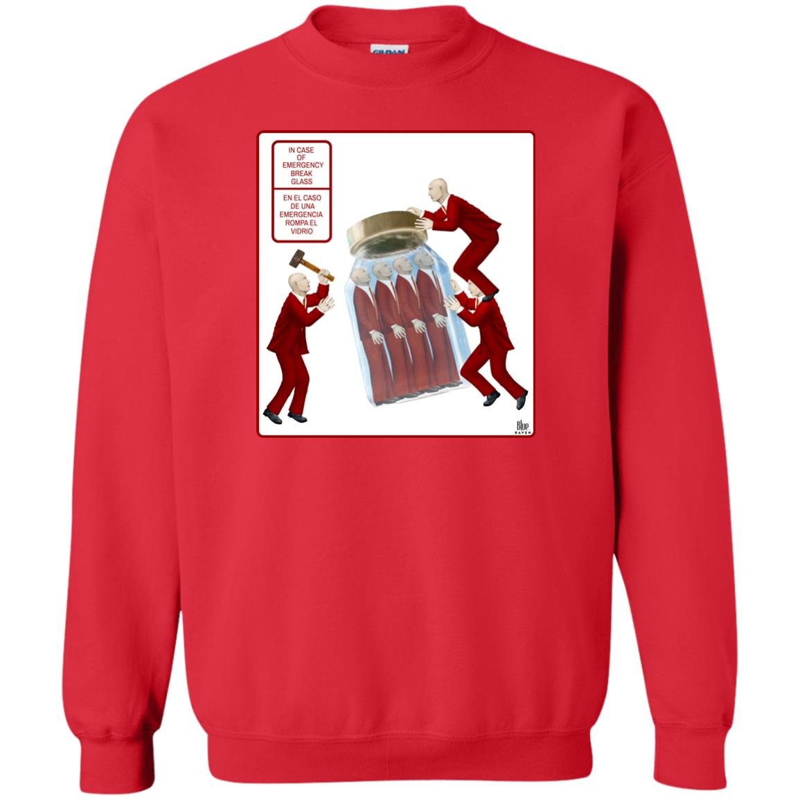 BREAK GLASS - Men's Crew Neck Sweatshirt