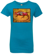 Uber Lizard - red - Girl's Premium Cotton T-Shirt