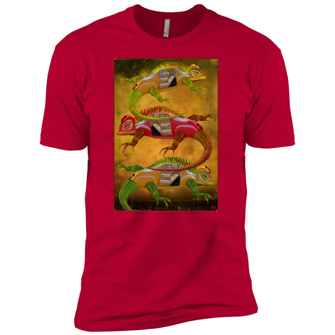 Uber Lizards - Men's Premium Fitted T-Shirt