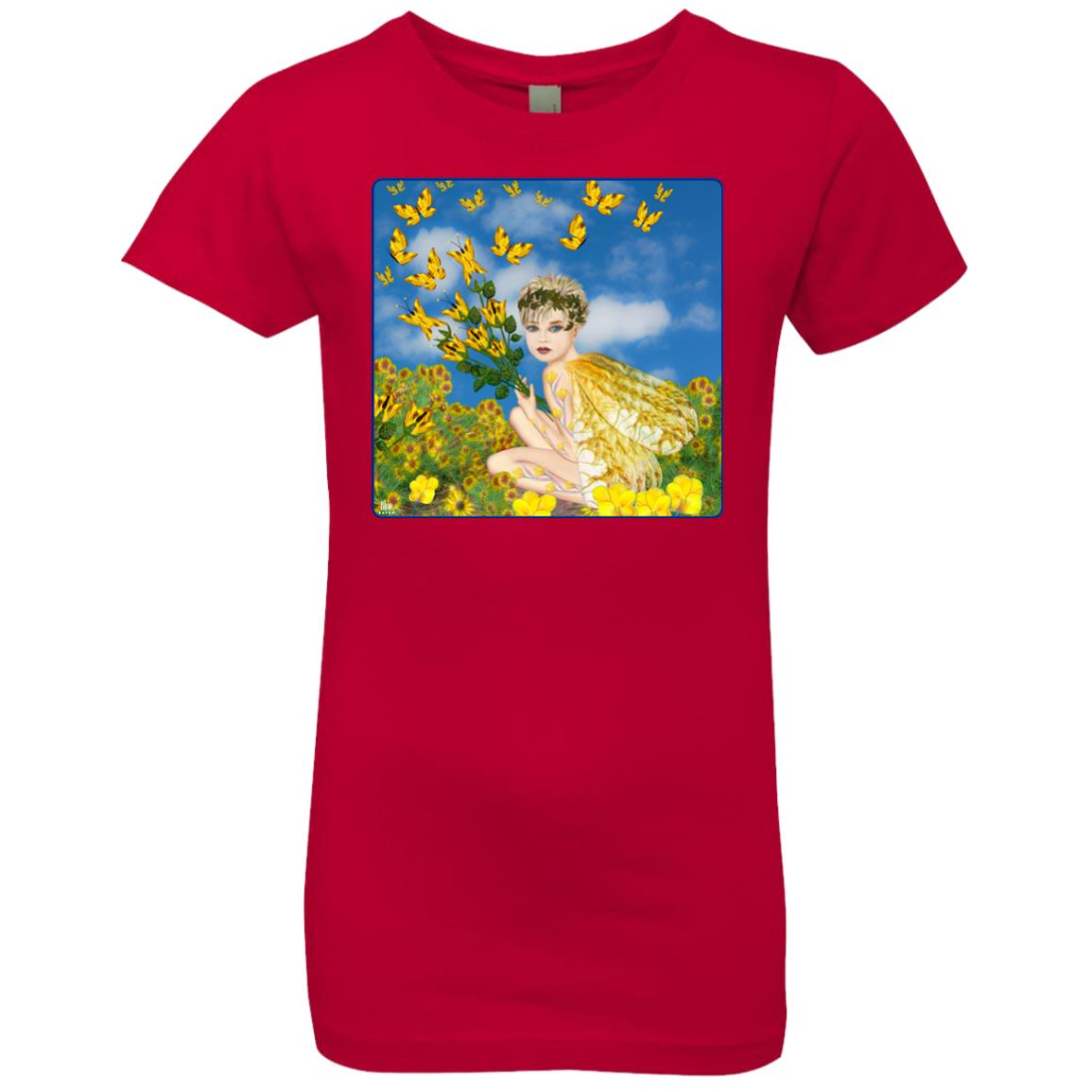 MAKING BUTTERFLIES - Girl's Premium Cotton T-Shirt