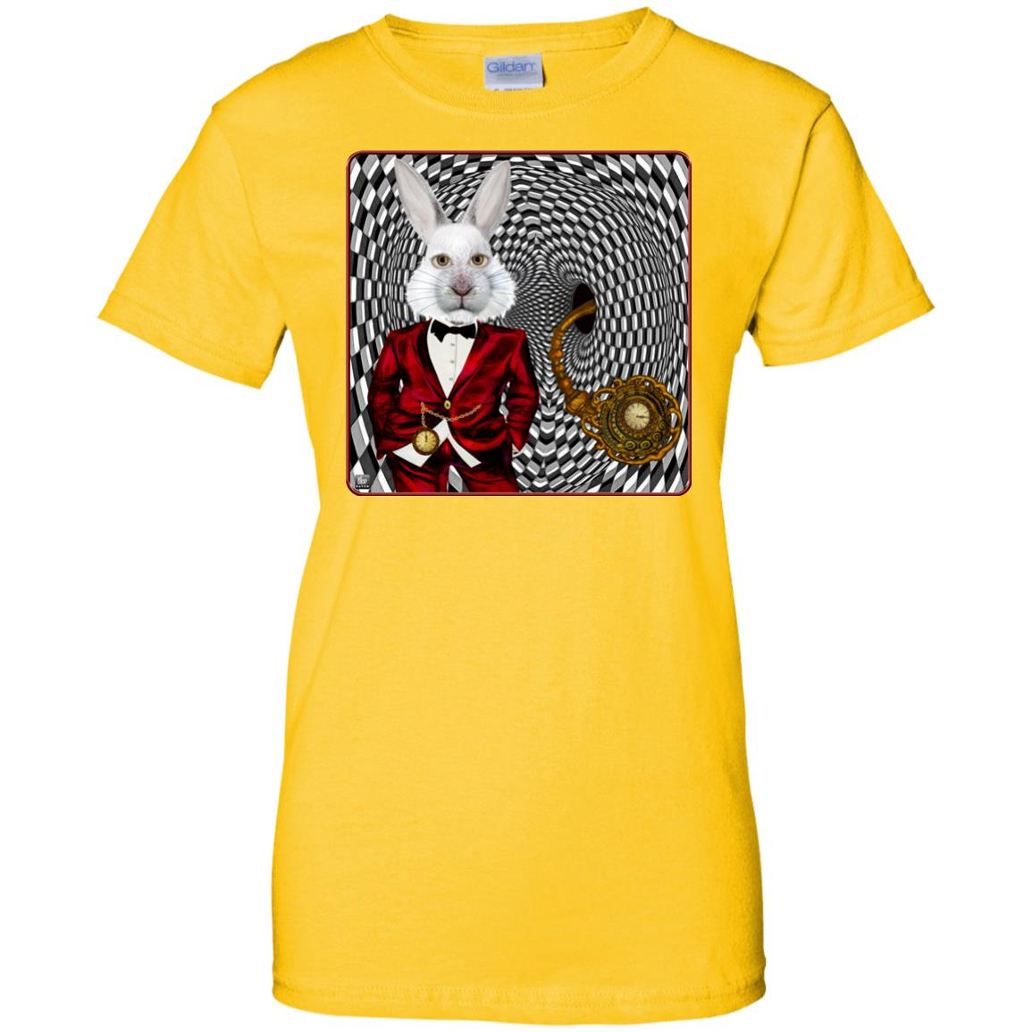 portrait of the white rabbit - Women's Relaxed Fit T-Shirt