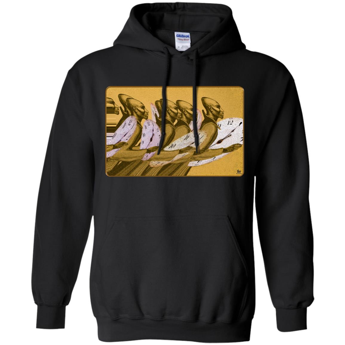 Time Marching On - Gold - Adult Hoodie