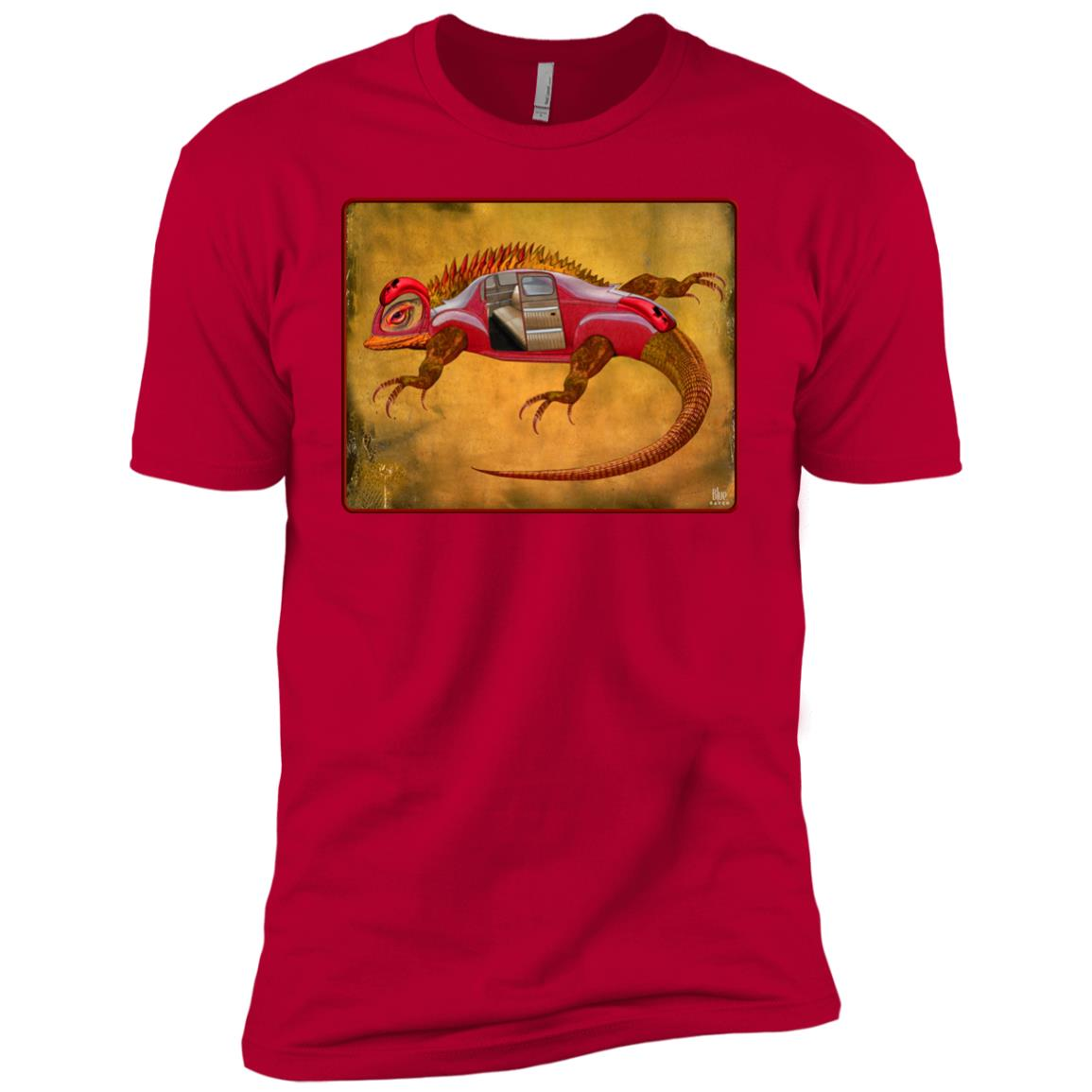 Uber Lizard - red - Men's Premium Fitted T-Shirt