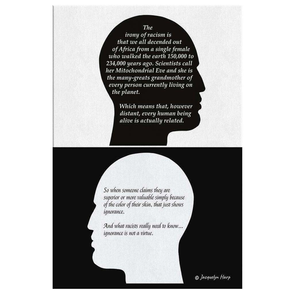 The Irony Of Racism - Canvas Art Print