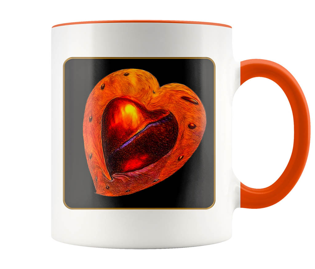 My Heart - 11 oz color accent mug