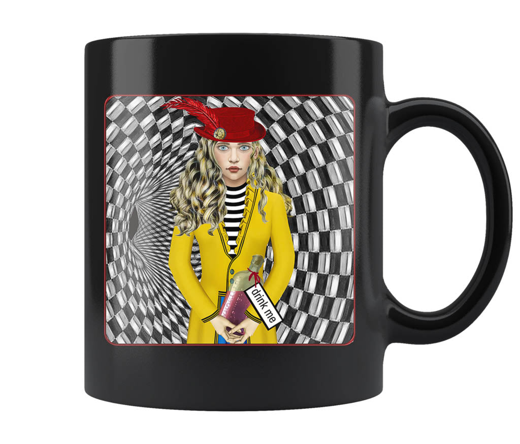 Portrait Of Alice - 11 oz black mug