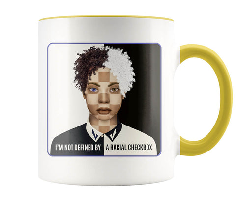 Racial Checkbox - 11 oz color accent mug