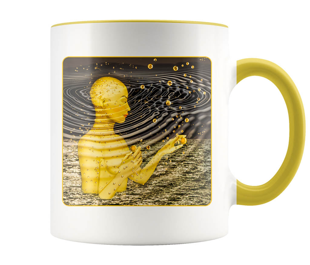 Ripples In The Multiverse - 11 oz color accent mug