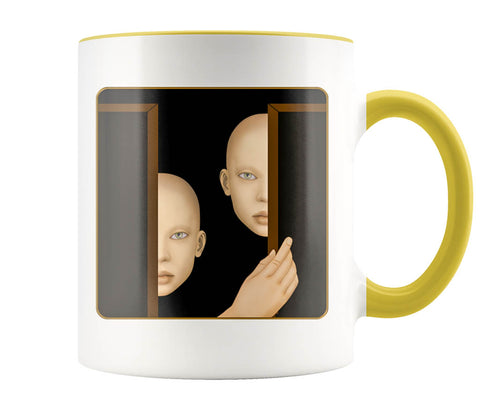 The Watchers - 11 oz color accent mug