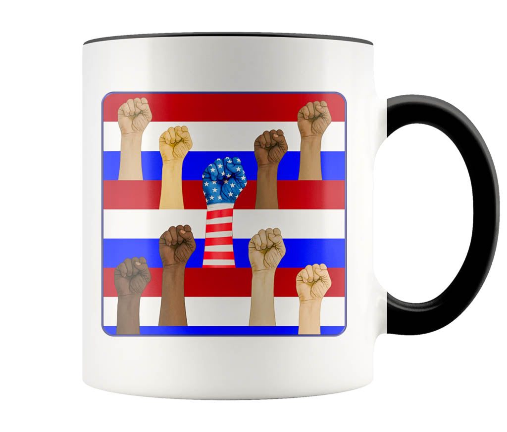 United Not Divided - 11 oz color accent mug