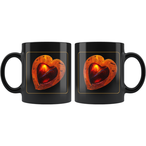 My Heart - 11 oz black mug