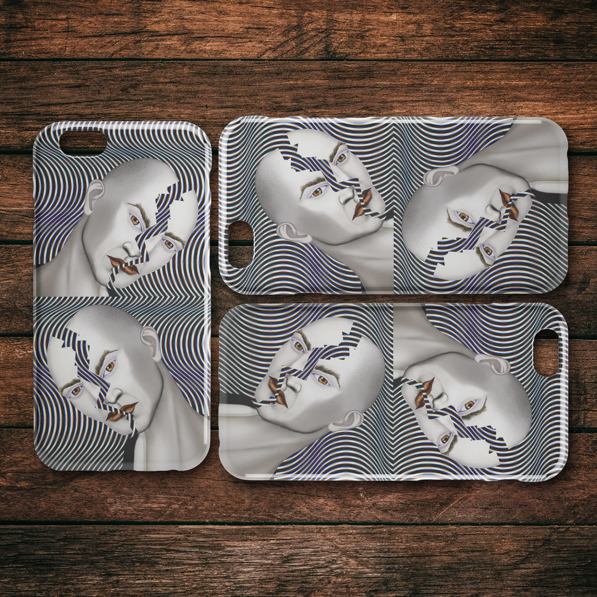 Cracked Until Coffee - iPhone Case