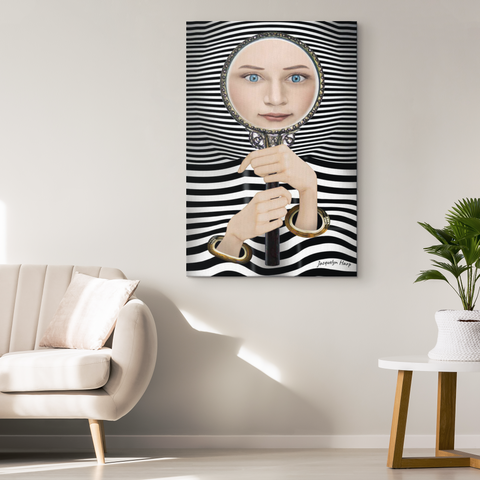 the looking glass - canvas wall art