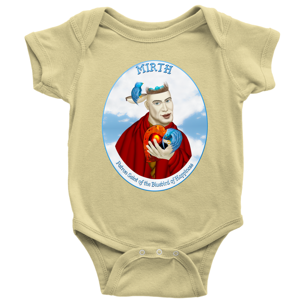 Mirth - Oval - Premium Baby Onesie