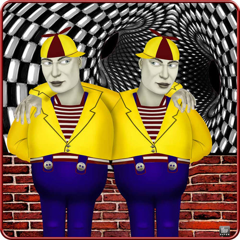 tweedledee and dum - Girl's Premium Cotton T-Shirt