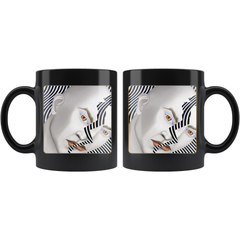 Cracked Until Coffee - 11 oz black mug