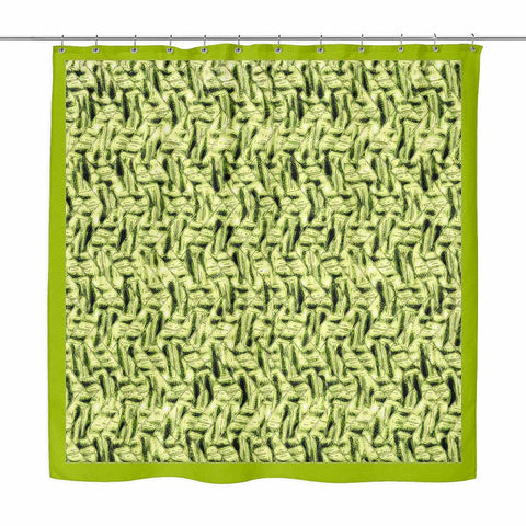 Zig Zag Green - shower curtain