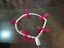 Load image into Gallery viewer, Long Pearls with Magenta Bracelet