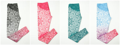 Ombre Lotus Leggings - Legasocks