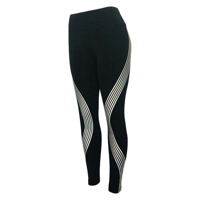 Reflective Silk™ Striped Leggings - SALE - Legasocks