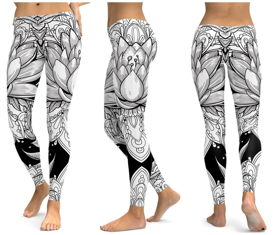 White Orchid Leggings - Legasocks