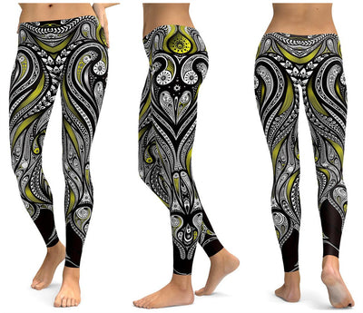 Yellow Spectral Leggings - Legasocks