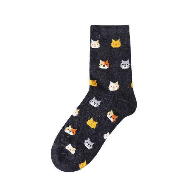 Cat Socks - Black
