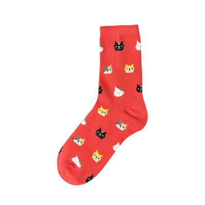 Cat Socks - Red - Legasocks