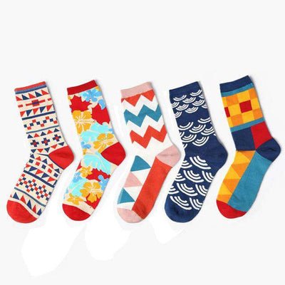 5-pair Vintage Art Cotton Socks - Legasocks
