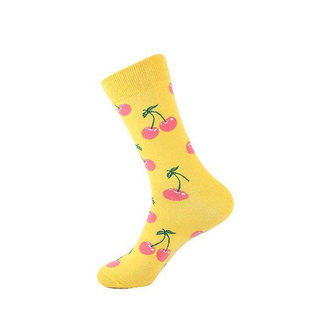 Cherry Socks - Yellow