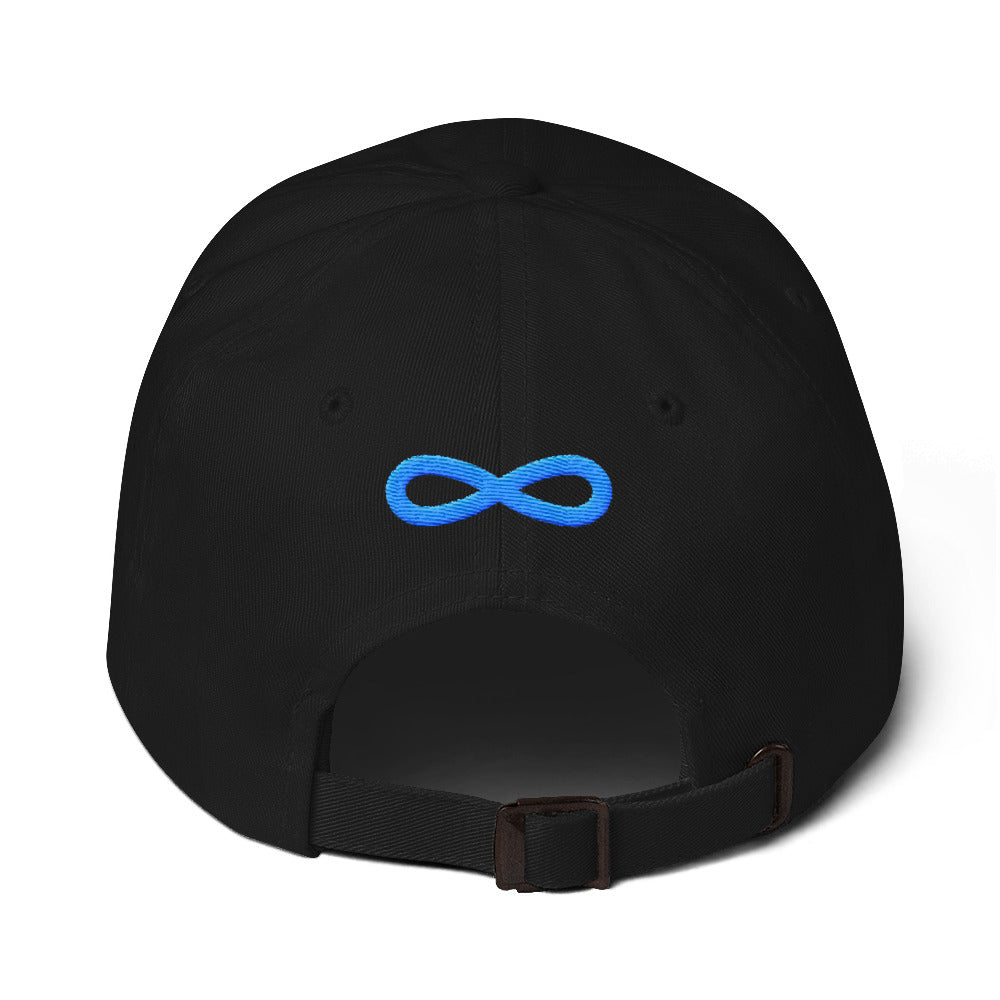 FLIPSIDE Dad Hat Black-Aqua Back