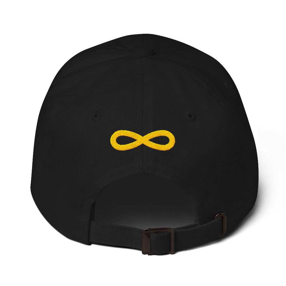 FLIPSIDE Dad Hat Black-Gold Back