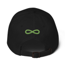 FLIPSIDE Dad Hat Black-Kiwi Green Back