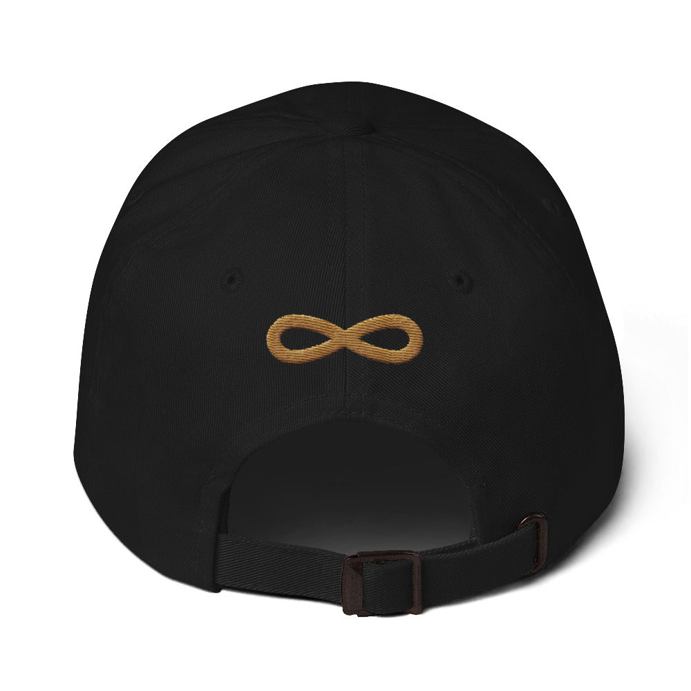 FLIPSIDE Dad Hat Black-Old Gold Back