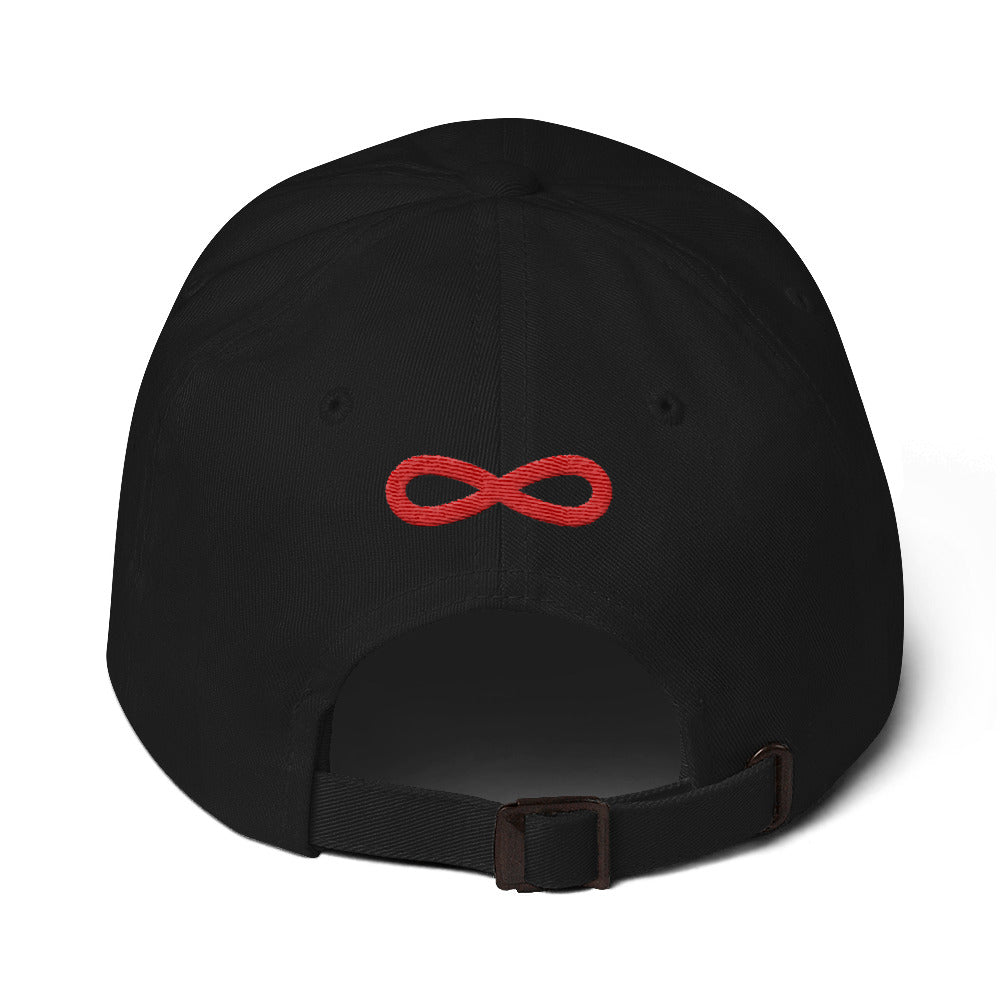 FLIPSIDE Dad Hat Black-Red Back