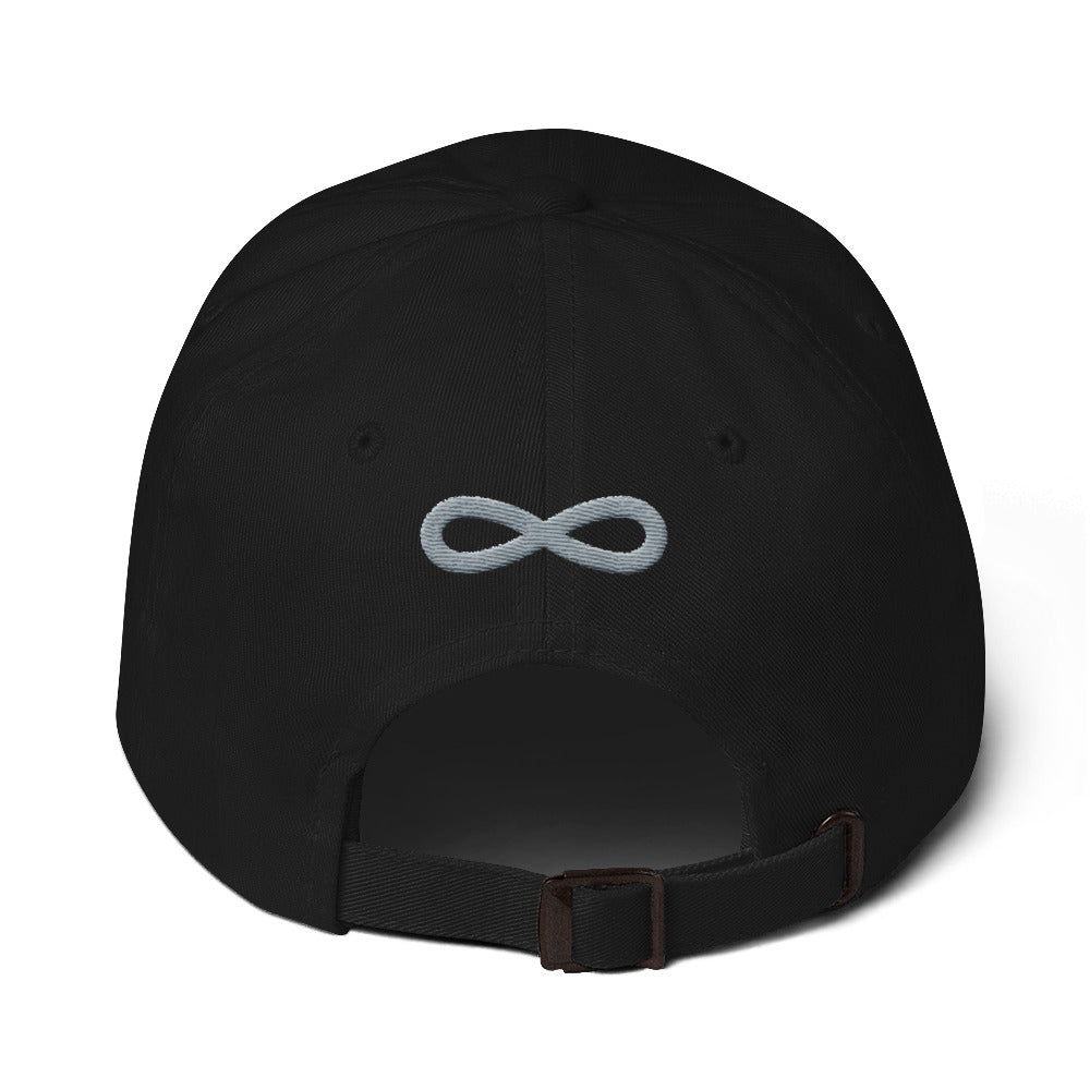 FLIPSIDE Dad Hat Black-Silver Back