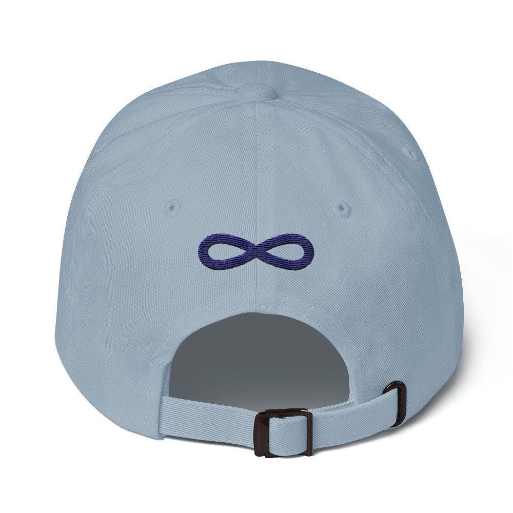 FLIPSIDE Dad Hat Light Blue-Navy Back