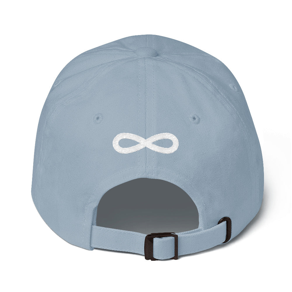 FLIPSIDE Dad Hat Light Blue-White Back