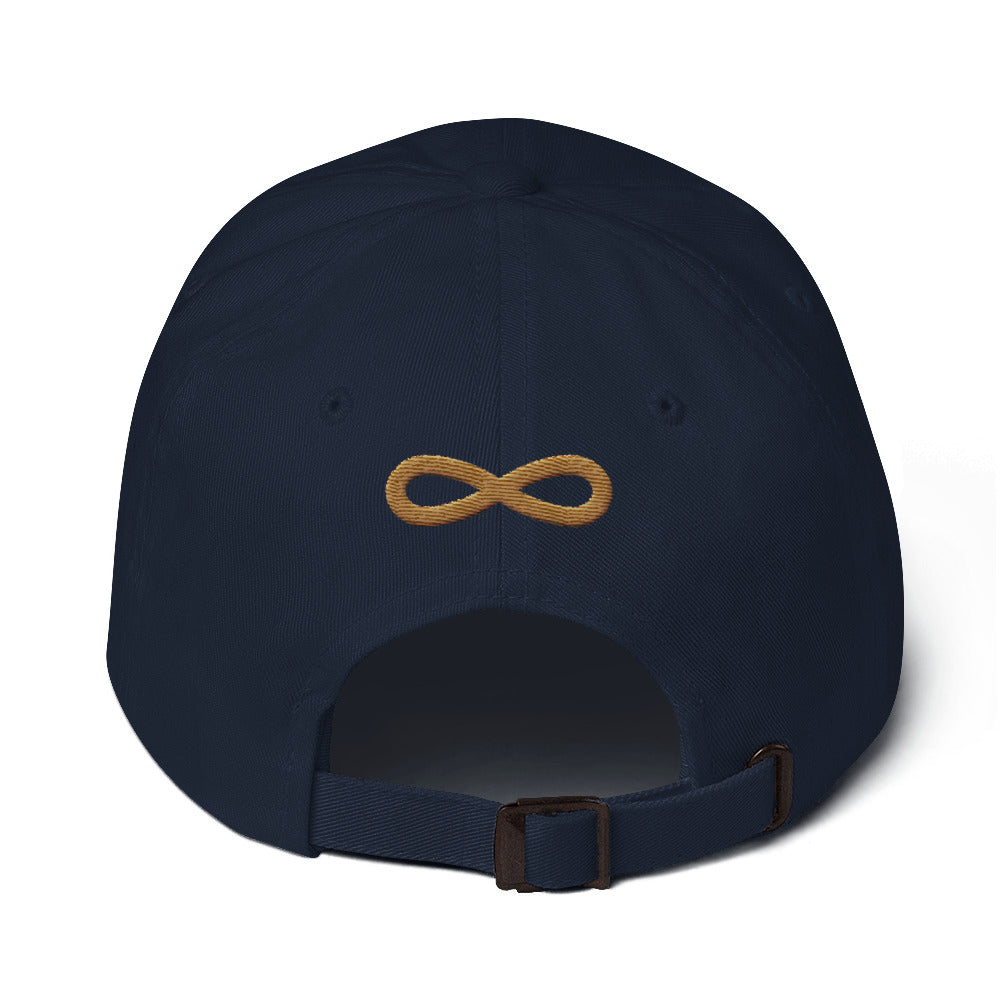 FLIPSIDE Dad Hat Navy-Old Gold Back