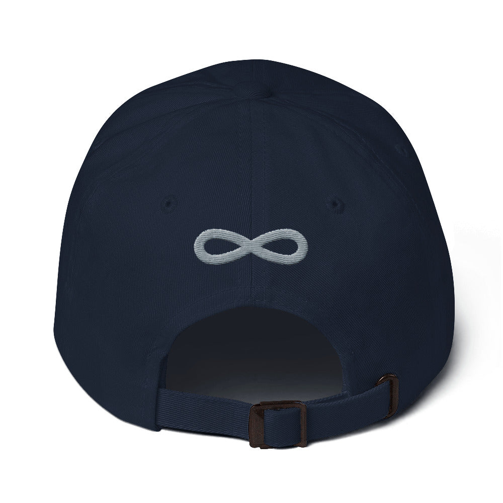 FLIPSIDE Dad Hat Navy-Silver Back