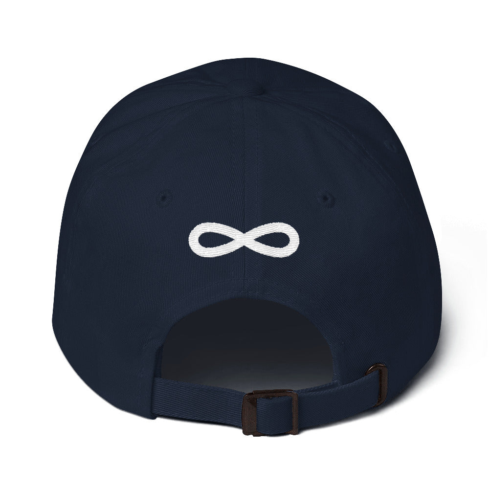 FLIPSIDE Dad Hat Navy-White Back
